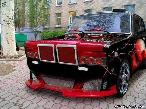 vaz 21 07 tuning,2107,tunind lada,07 tyuning on